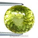6.40 cts Canary Greenish Yellow APATITE Oval Facet-cut Natural Gemstone Brazil