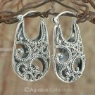 Creole EARRINGS Genuine Sterling SILVER 11.70 g ~ Handmade in Bali