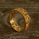 RING Genuine 24K Gold Vermeil over Sterling SILVER 2.70 g US size 5.5 ~ Handmade