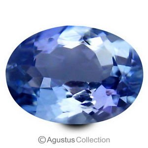 0.79 cts TANZANITE Violet Blue Oval Faceted Cut Clean Natural Gemstone Tanzania