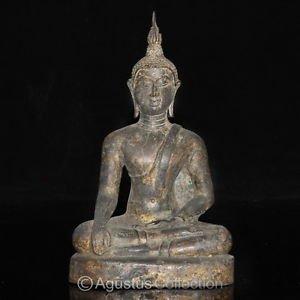 RARE Antique Thai Ayutthaya Bronze Statue of the BUDDHA 15-16th Century AD
