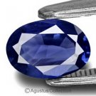 0.20 cts Deep Blue SAPPHIRE Oval Facet-cut Natural Gemstone Sri Lanka Ceylon