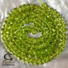 "Arizona Green PERIDOT BEADS 16.53"" Strand Faceted Very Fine Gemstone 134+ct"