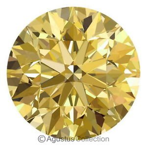 0.05 cts Round Natural loose Brownish Yellow Diamond 2.39 mm VS2 Brilliant Cut