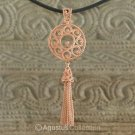 Pendant Genuine 18K Rose Gold over Sterling SILVER 10.65 g ~ Handmade in Bali