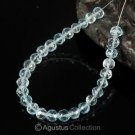 Sky Blue TOPAZ 5.51 inch Strand Faceted Round Natural Gemstone BEADS 38 ct