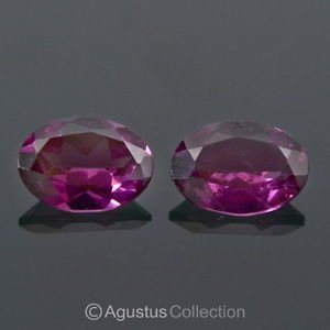 1.46 cts Pinkish Red RHODOLITE Garnet Pair Oval Faceted VVS Clean Madagascar Gem