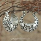 Creole EARRINGS Genuine 925 Sterling SILVER 12.99 g ~ Handmade in Bali