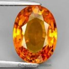 0.40 cts Rich Orange SAPPHIRE Oval Facet-cut Natural Gemstone Sri Lanka Ceylon