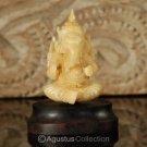"""Hindu God GANESHA Carving TAGUA NUT Marvelous Carved Art Sculpture STATUE 1.68"""""""