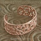Cuff Bracelet Genuine 18K Rose Gold over Sterling SILVER 49.10 g ~ Handmade