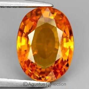 0.54 cts Orange SAPPHIRE Oval Facet-cut Natural Gemstone Sri Lanka Ceylon