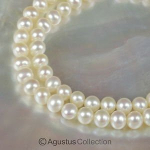 FRESHWATER PEARLS 15.5 inch Strand Lustrous Cream White Nugget China 17.43 g