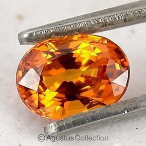 0.25 cts Orange SAPPHIRE Oval Facet-cut Natural Gemstone Sri Lanka Ceylon
