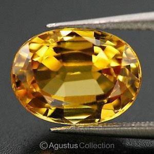 0.43 cts Golden Yellow SAPPHIRE Oval Facet-cut Natural Gemstone Sri Lanka Ceylon