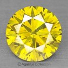 0.05 cts Round Natural loose Yellow Diamond 2.42 mm VS2 Clarity Brilliant Cut