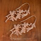 Dragonfly Hook EARRINGS Genuine 18K Rose Gold over Sterling SILVER 11.40 g