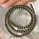 "Natural PYRITE 15.74"" Strand 4.3+ mm Faceted Round GEMSTONE BEADS 16+ g"