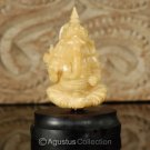 Hindu God GANESHA Carving TAGUA NUT Marvelous Carved Art Sculpture STATUE 1.92""