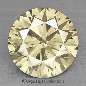 0.05 cts Round Natural loose Yellowish Diamond 2.28 mm VS2 Clarity Brilliant Cut