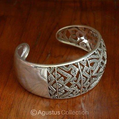 Cuff Bracelet Genuine Solid Sterling SILVER 31.10 g ~ Handmade in Bali