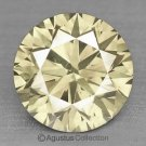 0.06 cts Round Natural loose Yellowish Diamond 2.35 mm VS2 Clarity Brilliant Cut