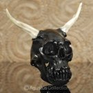 Horned ALIEN SKULL ~ BOVINE HORN & DEER ANTLER Sculpture Art Carving 33.33 g