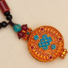 Tibetan Traditional Gao Niche (Pendant) with The Glorious Endless Knot