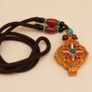 Tibetan Traditional Gao Niche (Pendant) with Stilized Double Dorjee