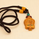 Tibetan Traditional Gao Niche (Pendant) with Kalachakra mantra