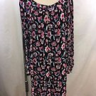 JUICY COUTURE BLACK/ PINK FLORAL PEASANT DRESS SIZE M