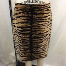MOSCHINO CHEAPANDCHIC LEOPARD PRINT PENCIL SKIRT SIZE 10