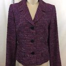 LAFAYETTE 148 NEW YORK PURPLE WOVEN FLECKS BOUCLE JACKET SIZE 6