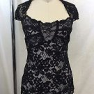 ANN FERRIDAY BLACK LACE OVERLAY SQUARE NECK CAMI ONE SIZE