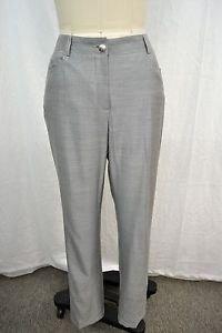 CHANEL GRAY WOOL/ SILK STITCHED DRESS PANTS SIZE 38