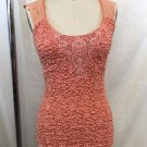 ANN FERRIDAY PEACH LACE OVERLAY CAMI ONE SIZE
