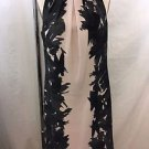 ANN TAYLOR CHARCOAL/ BEIGE PRINT SLEEVELESS SHIFT DRESS SIZE 4
