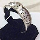 """Lois Hill .925 Granulated Swirls Bangle Bracelet 7 1/2"""" 43 grams"""