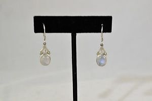 SAJEN 925 SILVER MOON STONE DANGLE EARRINGS