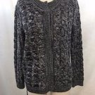 ETOILE ISABEL MARANT GRAY WOOL CABLE KNIT CARDIGAN SWEATER SIZE 3