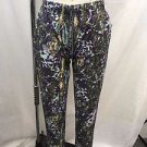 LULULEMON ATHLETICA PURPLE/ GREEN DRAWSTRING PANTS SIZE 4