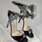 RARE! JIMMY CHOO PROJECT PEP ANKLE CUFF STRAPPY STILETTO HEELS SIZE 36.5