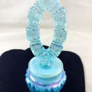 FENTON USA CARNIVAL BLUE GLASS PERFUME BOTTLE