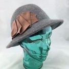 ALBERTUS SWANEPOEL NEW YORK GRAY CLOCHE HAT RETAIL $312