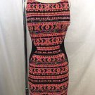 HALE BOB CORAL/ PINK SEQUIN SLEEVELESS DRESS SIZE XS