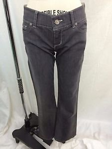 BISHOP OF SEVENTH GRAY DENIM BOOTCUT JEANS SIZE 27 RETAIL $225