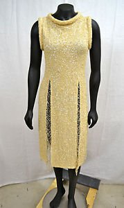 JEAN PAUL GAULTIER FEMME VINTAGE/ ONE OF A KIND/ RUNWAY SEQUIN COCKTAIL DRESS