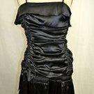 FLAVIO CASTELLANI BLACK SILK RUCHED BUBBLE DRESS SIZE 42