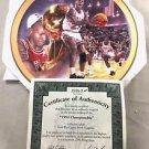 Michael Jordan Limited Edition Round Plate 1991 Championship Chicago Bulls