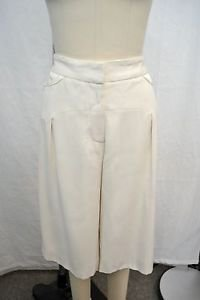 TEMPERLEY LONDON CREAM SILK SOFT TAILORED SHORTS SIZE 10 RETAIL $605
